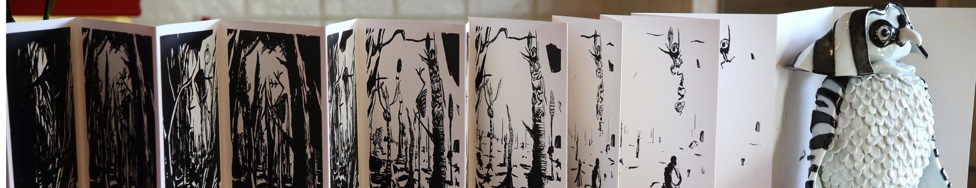 désailés forêt sérigraphie gravure sur bois livre d'artiste édition